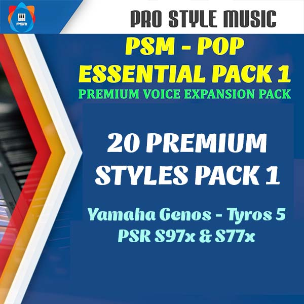 PREMIUM style packs for PSM-POP Essential pack 1 – Voice & Style
